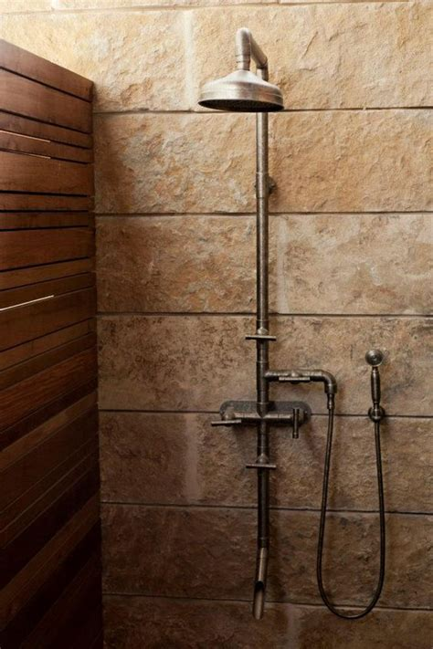 Outdoor Exposed Shower Faucet by A Rugged Exposed Thermostatic Shower Set Lake Flato