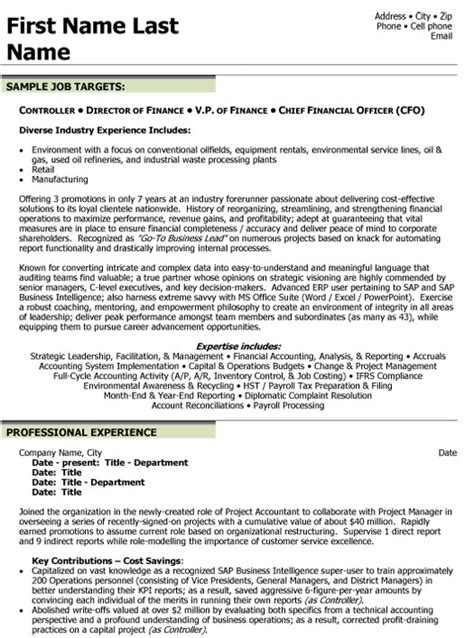 Financial Controller Resume Exles by Top Finance Resume Templates Sles
