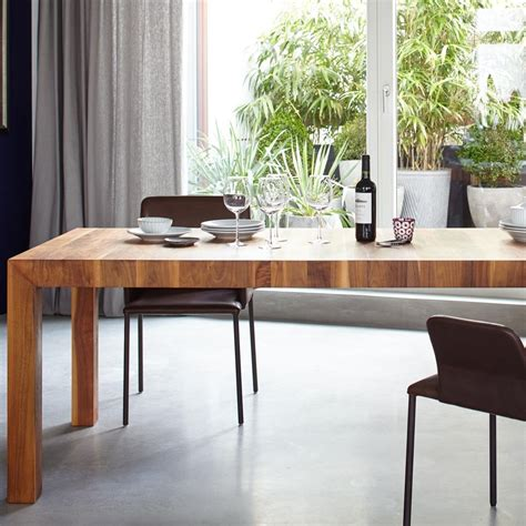 volta solid wood dining table extendable