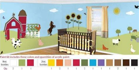 friendly farm stencil paint kit