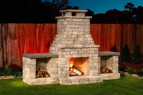 diy outdoor fremont fireplace kit  hardscaping simple
