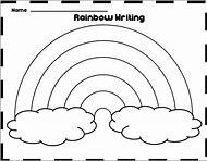 free rainbow writing template