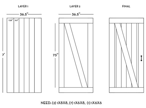 barn door dimensions diy barn door plans tutorial sue design