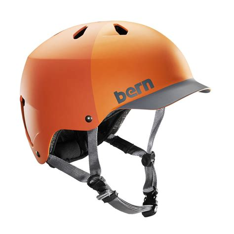 matte orange bern watts h20 helmet matte orange hatstyle free uk