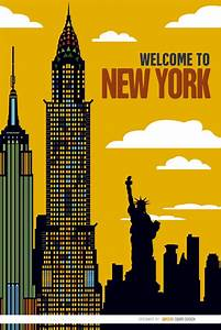 New York Poster : new york city poster vector free download ~ Orissabook.com Haus und Dekorationen