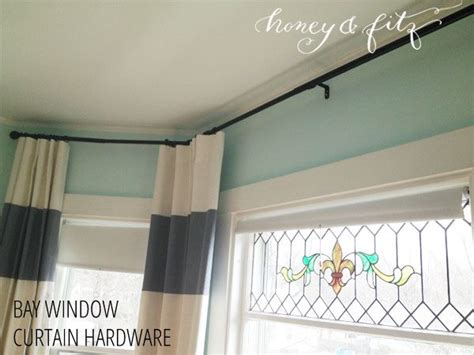 bay window curtain hardware options bay window curtains