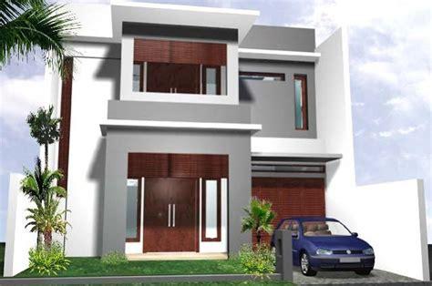 model desain rumah minimalis type   lantai gambar
