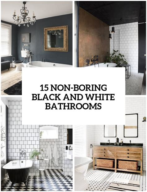 Decoration Ideas For Bathrooms Black And White by 15 Non Boring Black And White Bathroom Decor Ideas Obsigen