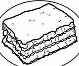 Lasagna sketch template