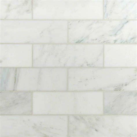 4x12 Subway Tile Daltile by Italian White Carrara 4 Quot X 12 Quot Subway Polished Marble Tile