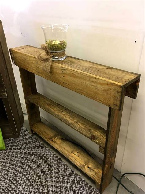 Slim Entryway Table by Wooden Pallet Entryway Table