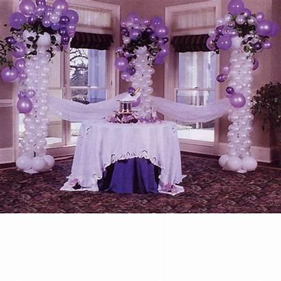Tulle Purple Decorations Balloon Balloons Ballon Centerpieces