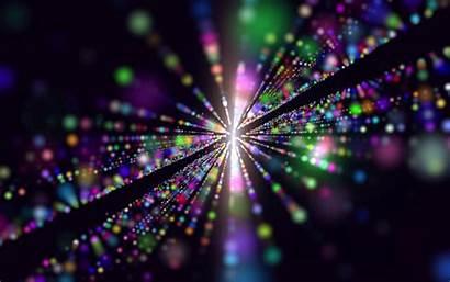 Abstract Colorful Laser Dots Widescreen Penerima Tanpa