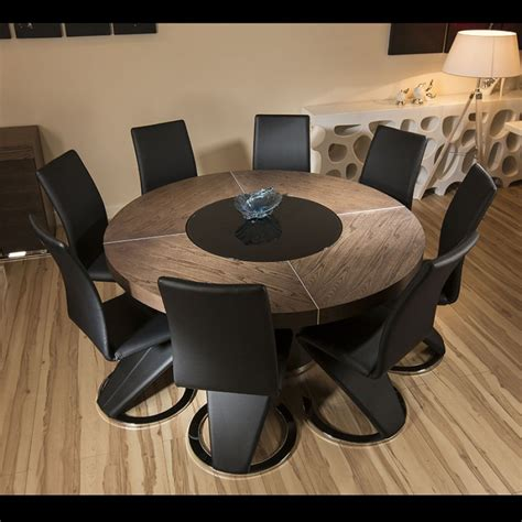 large  elm wood dining table  high black faux