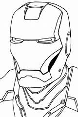 Iron Outline Coloring Ironman Head Mask Clipart Face Drawing Helmet Clip Printable Spiderman Spider Sketch Clipartbest Mans Cliparts Template Getdrawings sketch template
