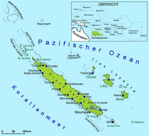 neukaledonien geografie und landkarte laender