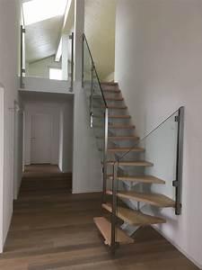 Stahltreppe Mit Holzstufen : stahlwangentreppe mit holzstufen wohn design ~ Orissabook.com Haus und Dekorationen