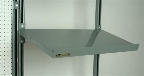 stackbin workbenches  deep angled cantilevered shelf