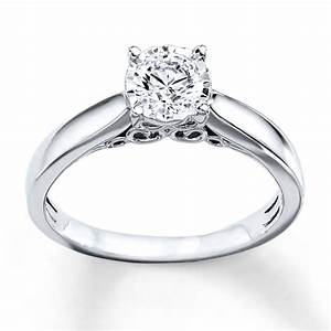 Radiant Reflections Ring 12 Carat Diamond 10K White Gold