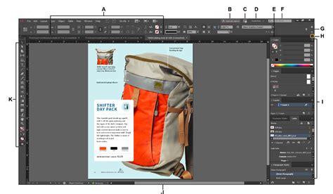 adobe in design workspace basics in indesign