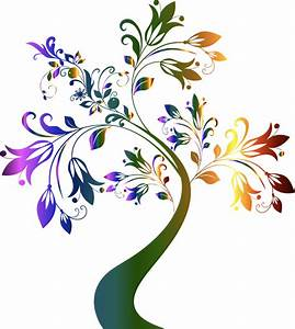 Clipart - Colorful Floral Tree