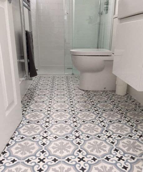 havana blue grey encaustic cement tile bathroom floor