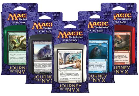 mtg intro decks list journey into nyx intro decks by planeswalker s library