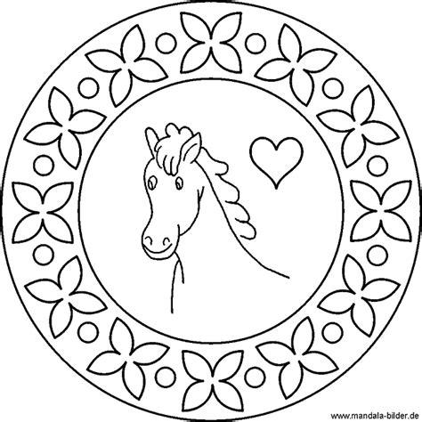 mandalas für kinder zum ausdrucken pferd mandala vorlagen als malvorlage f 252 r kinder