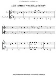 Deck the Halls On the Clarinet Easy Sheet Music