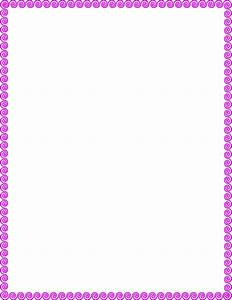 Flowers For > Purple Flower Page Border - Cliparts.co