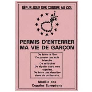 Jeux Enterrement Vie De Garcon by Permis D Enterrer Sa Vie De Gar 231 On