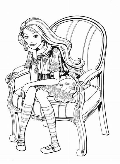 Pages Coloring Children Barbie