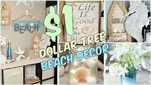 DOLLAR TREE BEACH HOME DECOR IDEAS - YouTube