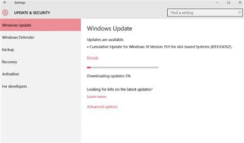 windows 10 cumulative operating system update build 10586 71 kb3124262 direct links