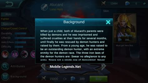 mobile legend alucard alucard features mobile legends