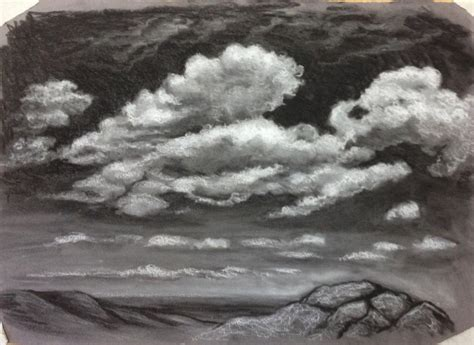 drawing clouds  charcoal touchpaper drawing tips