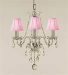 3 bulb mini chandelier pink