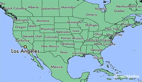los angeles ca los angeles california map