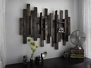 Modern rustic wall decor on cool simple in