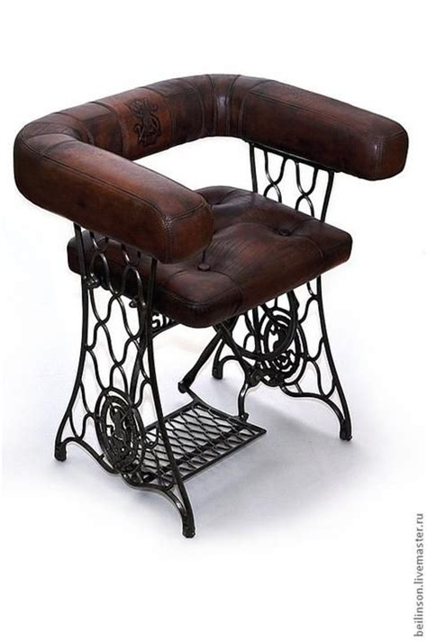 a retired sewing machine made into a chair