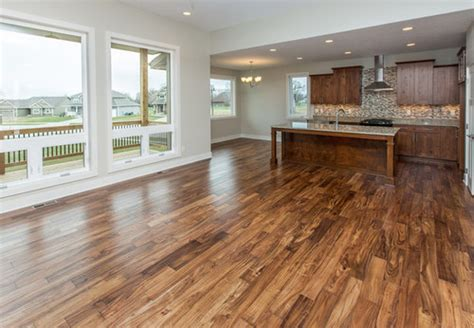 Kitchens With Dark Cabinets And Wood Floors by Acacia Wood Floor For The Kitchen