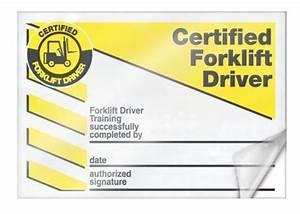 Forklift Training Certificate Template Wallet Card Forklift Forklift Industrial Truck