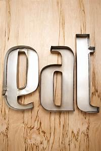 eat metal wall letters 20x17quot With eat metal letters