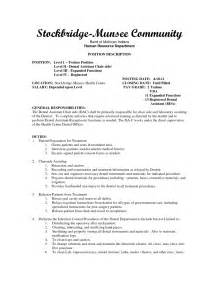Resume Objective For Assistant by Dental Assistant Resume Objective Berathen