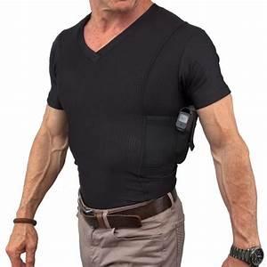 Men's V-Neck Coolux Shirt   Concealment Gear ...