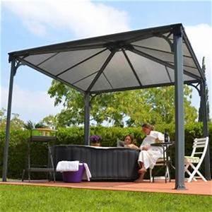 pergola aluminium comparer 603 offres With salon de jardin en aluminium castorama 2 abri de jardin gloriette hexagonale