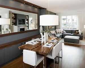 Wohnzimmer Mit Esstisch : 30 dekovorschl ge f r wohnzimmer mit essbereich ~ Markanthonyermac.com Haus und Dekorationen