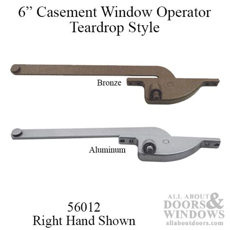 casement window operator   arm face mounted  hand shown choose color