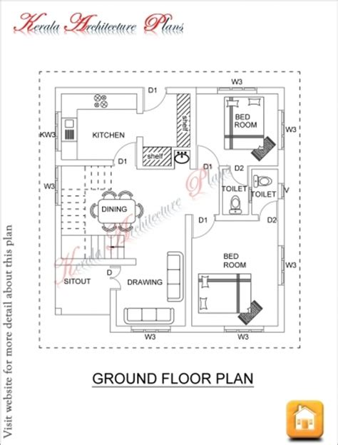 square feet  bedroom house plan  elevation