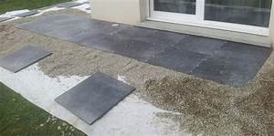 pose carrelage exterieur sur dalle beton 3 bois sur lit With pose carrelage terrasse sur dalle beton